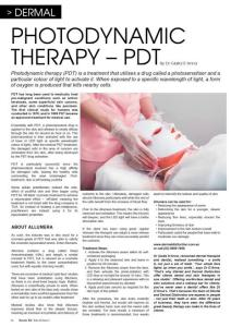 Allumera PhotoDynamic Therapy in beauty Biz magazine